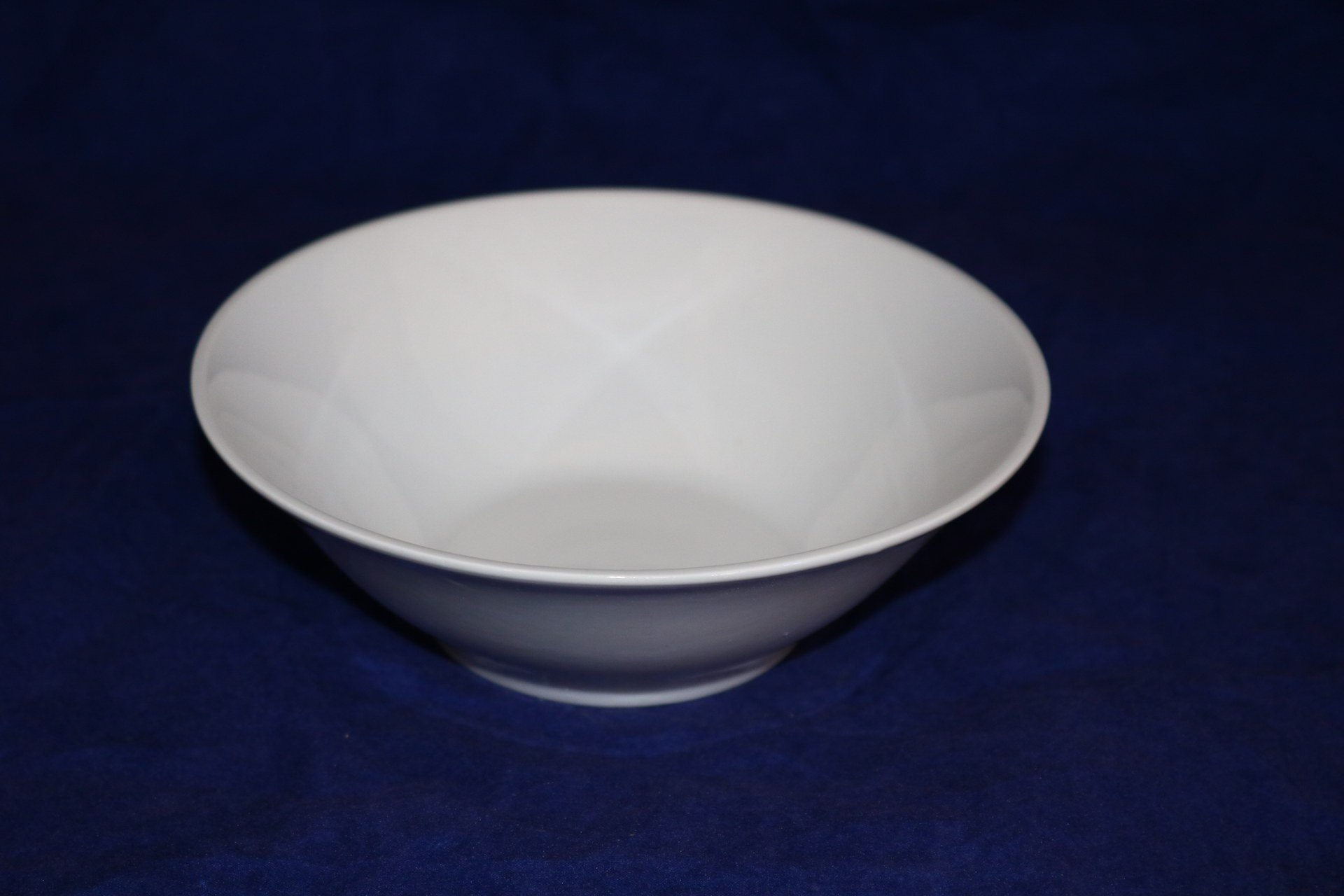 7 inch White Ceramic Salad Bowl