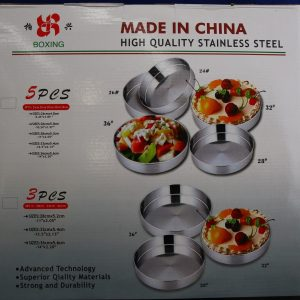3 Pcs Stainless Steel Round Baking Tray