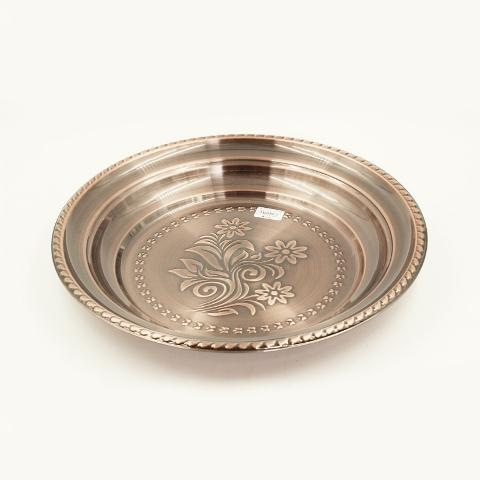Stainless Steel 44 cm Round Deep Copper Tray