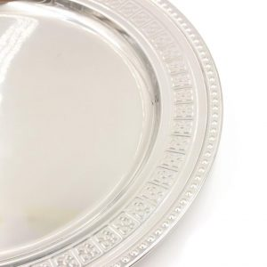 Stainless Steel 45 cm Round Plate Silver