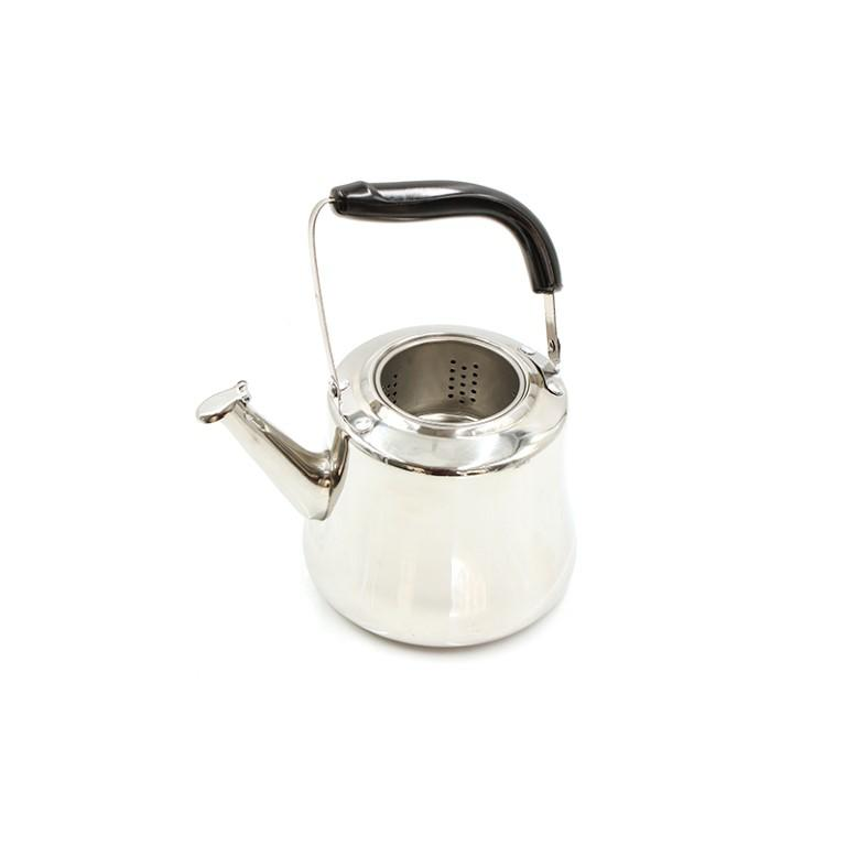 1.5L Stainless Steel Tea Pot Kettle with Strainer