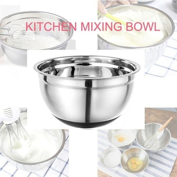 5 Pcs Stainless Steel Bowl Set with Lids