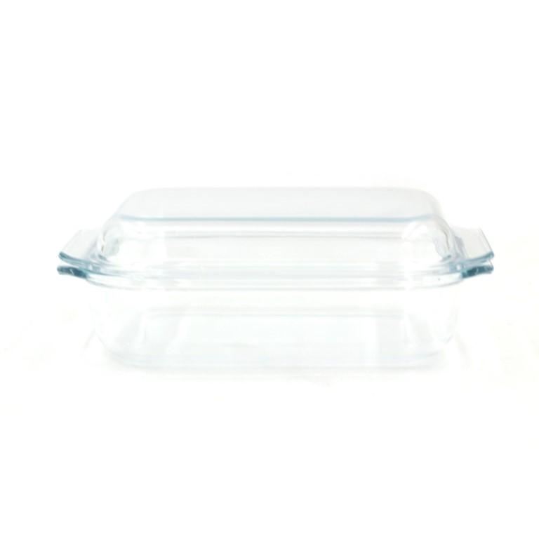 Rectangular Glass Oven Safe Baking Dish Pyrex with Lid 1.35 Ltr