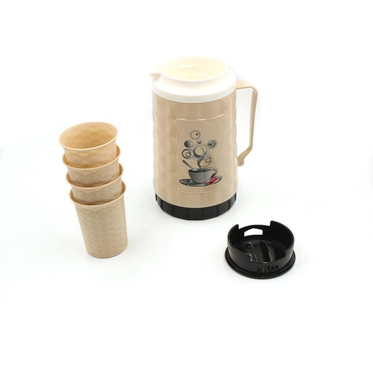 Thermos Water Jug 26*11 cm with 4 cups (Mention colour in comments)