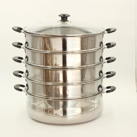 40 cm Stainless Steel Steamer 5 Tier