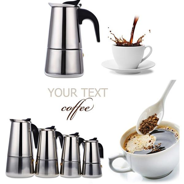 12 Cups Stainless Coffee Maker Stove Top