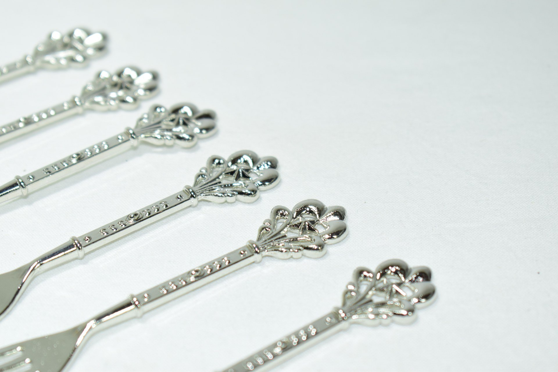 Fruit Fork Silver Set/6