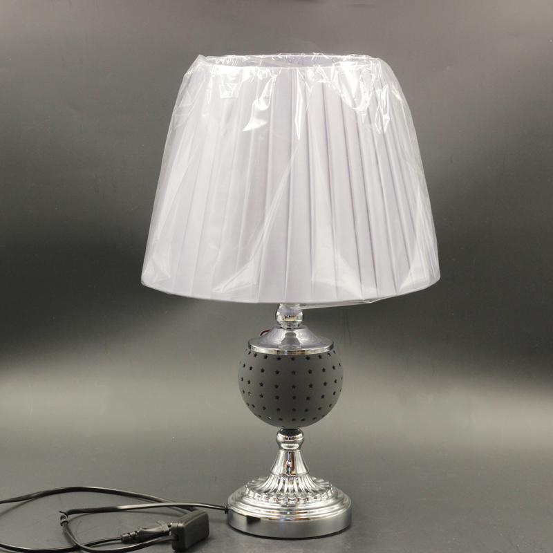 Bedside Reading Table Lamp Silver Base and Shade 44/28*21*17 cm