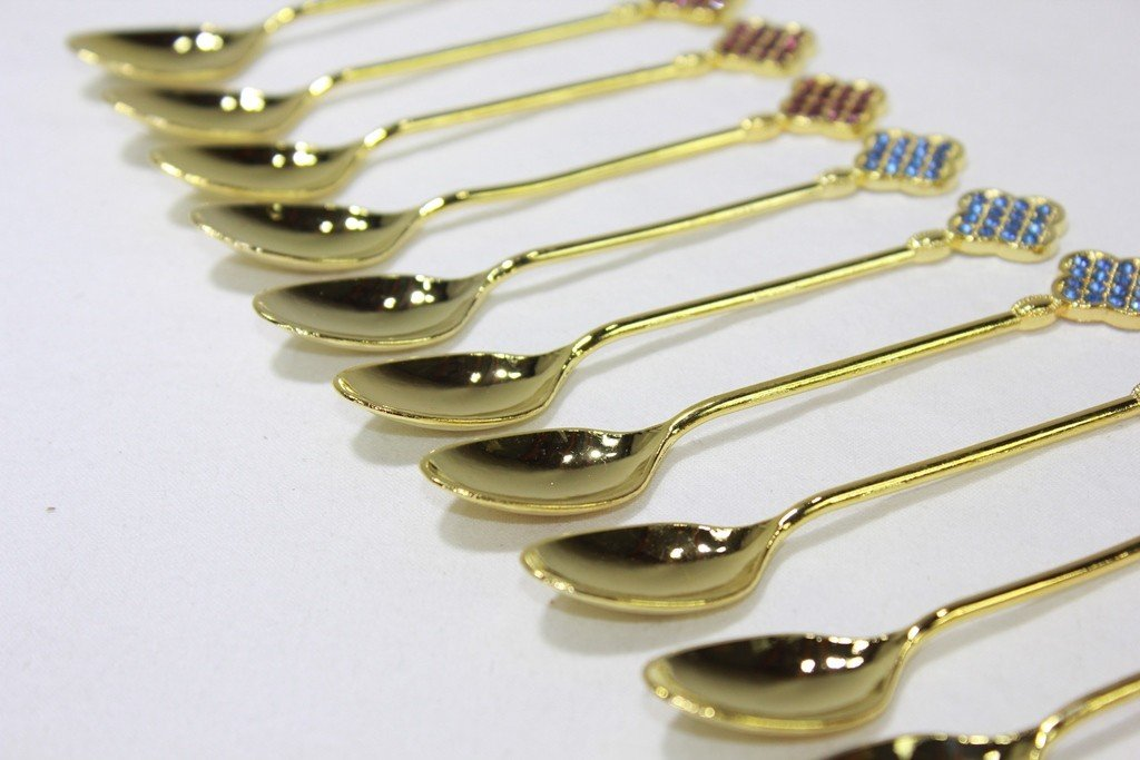 Royal Style Gold Tea Spoon Set/12 11 cm