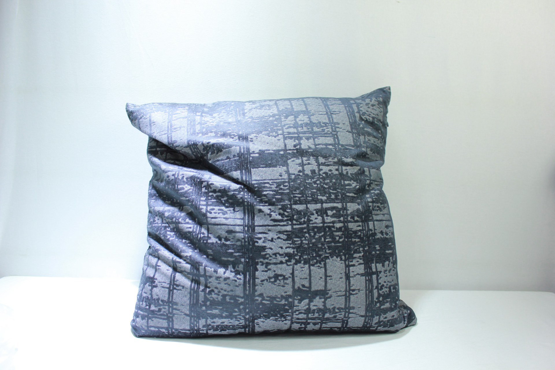 PILLOW COVER W CUSHION GRAY