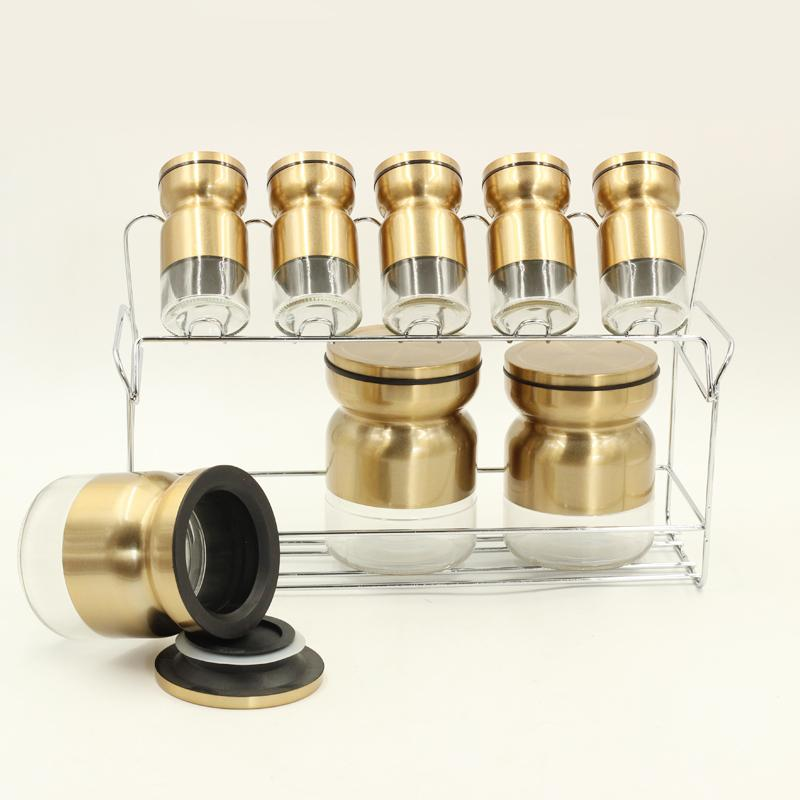 8 Pcs Canister and Spice with Stand
