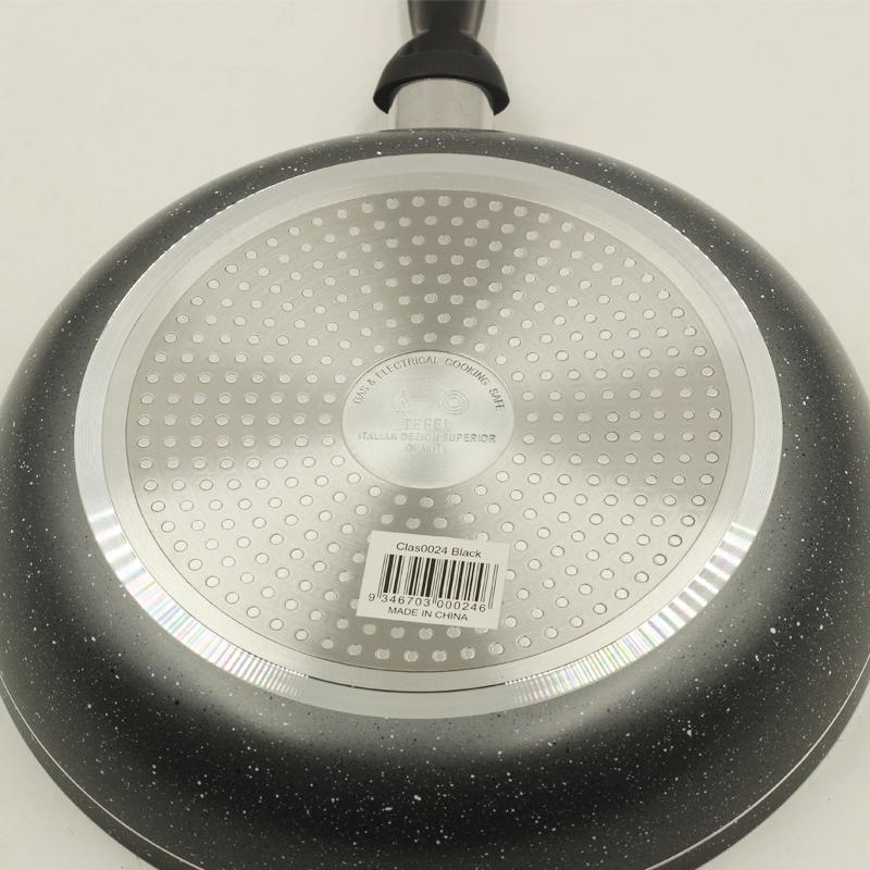 Frypan Grey Marble Coating Non Stick 28 cm 3mm