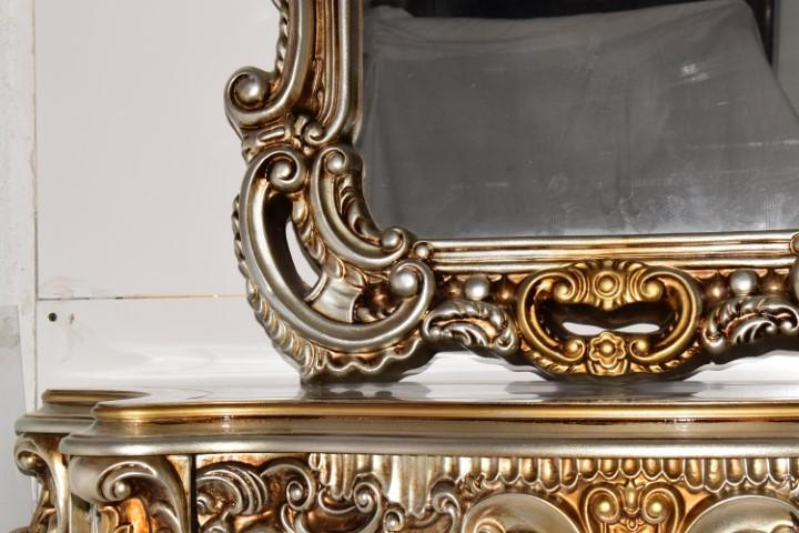 Silver Antique Console and Mirror Table