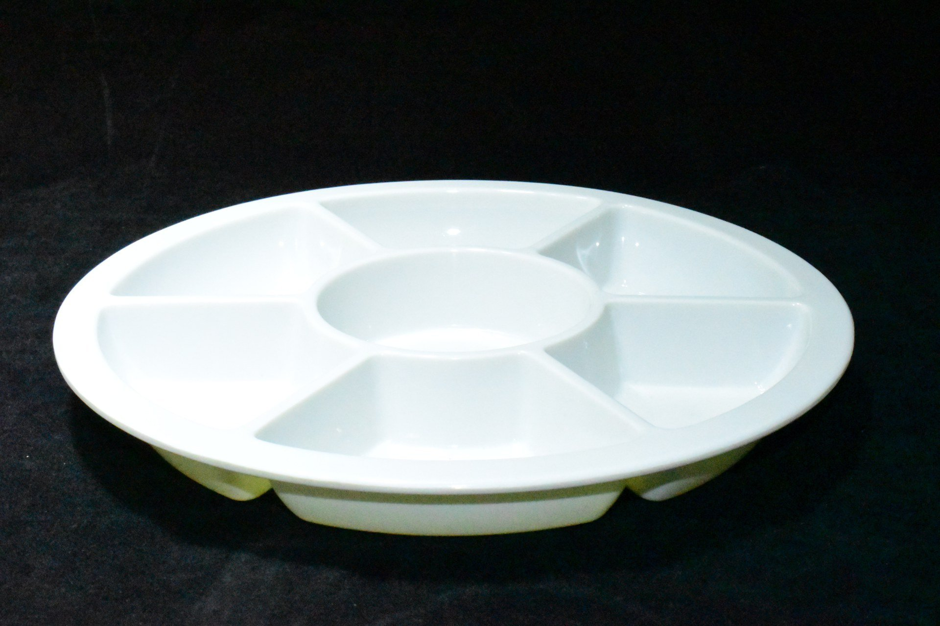 White Melamine Divided Plater