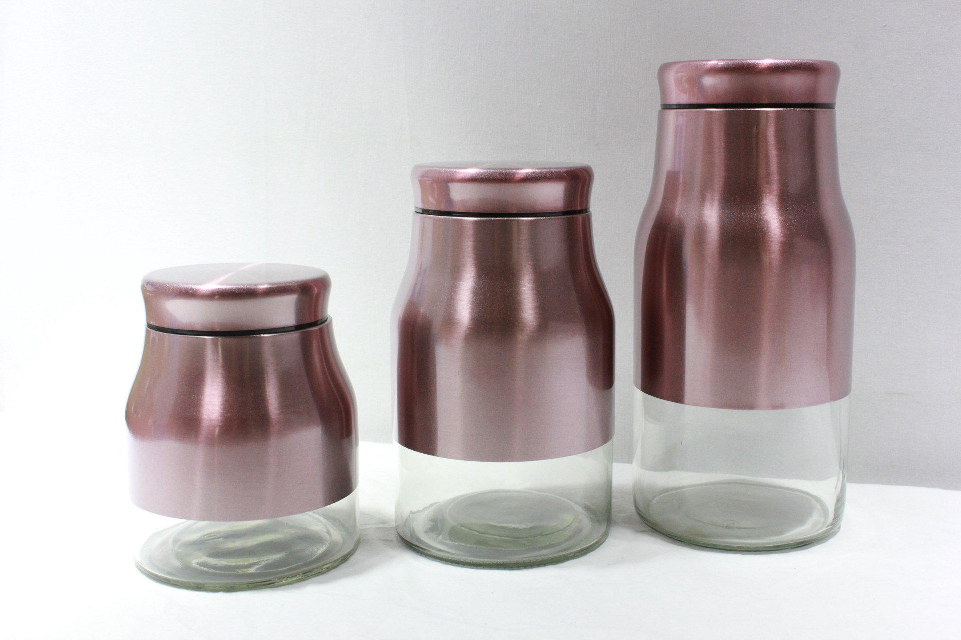 3 Pcs Pink Canister