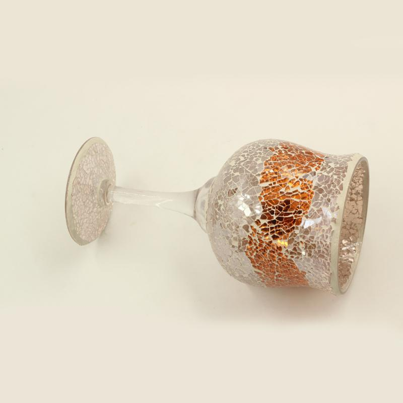 Mosaic Rose Gold Wine Glass 25 cm
