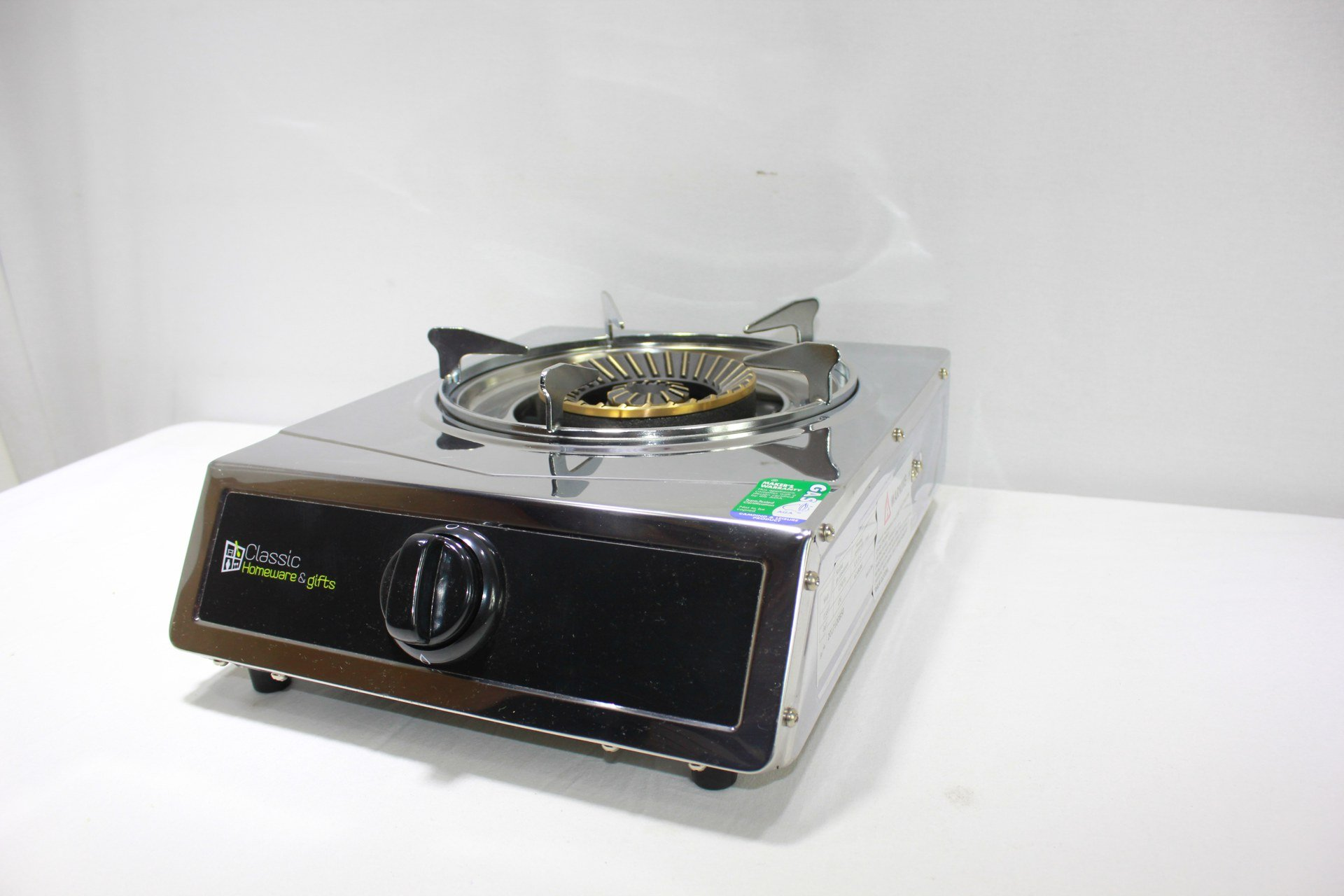 Stainless Steel Gas Stove Single Burner AGA Aprroved